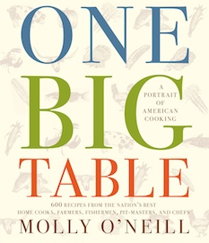 The cover of Molly O'Neill's book 'One Big Table'