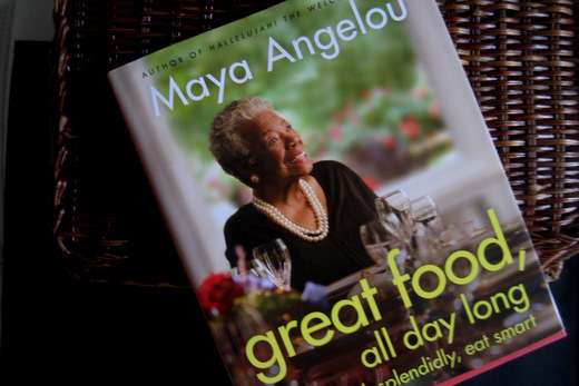 Maya Angelou Talks Food Image